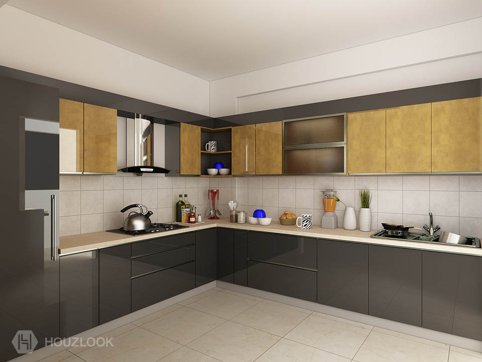 10 X12 Phonix L Shape Kitchen